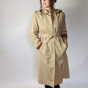 VINTAGE LONDON FOG Trench Coat Union Made Tan